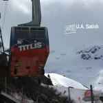 Titlis; Mount Titlis; mountain; Switzerland; snow; uasatish; http://uasatish.com; cable car; Rotair Gondola;