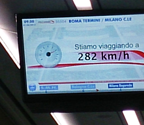 Train Travel; Rome to Milan; Italian Train; speed indicator; indoor; uasatish; http://uasatish.com;