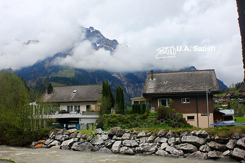 Mount Titlis; Engelberg; Switzerland; mountain; clouds; cabins; outdoor; uasatish;