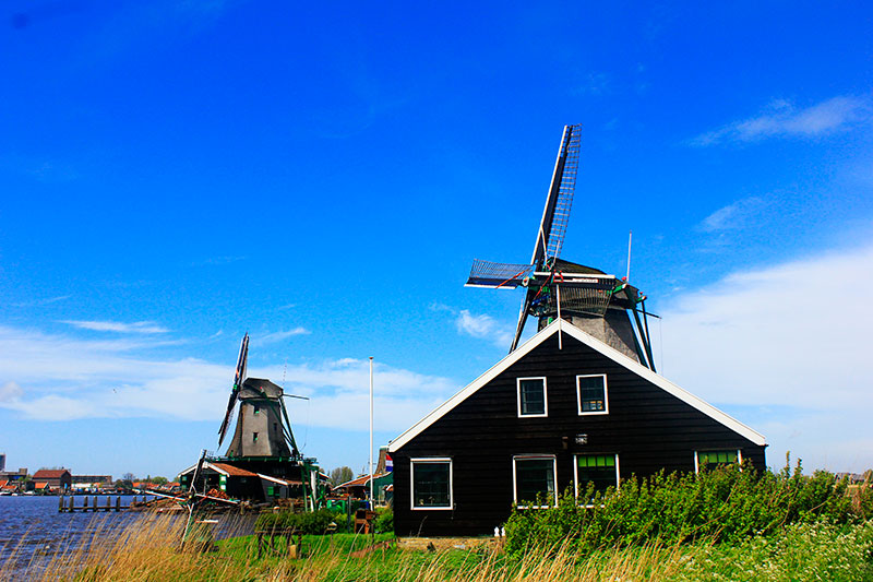 windmills; Netherlands; outdoor; uasatish; http://uasatish.com; sky; clouds;