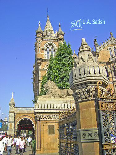 Chhatrapati Shivaji Terminus; South Bombay; Mumbai; Bombay; India; architecture; outdoor; travel; uasatish; Mumbai CST;