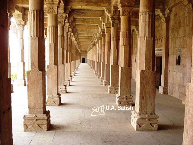 Pillars; Hoshang Shah; Mandu; Madhya Pradesh; architecture; travel; India; uasatish;