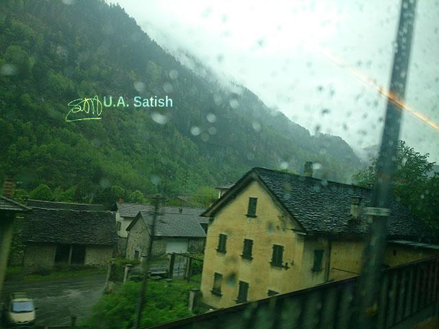 Switzerland; village; train travel; uasatish;