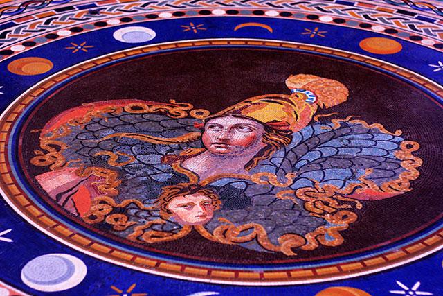 Vatican Museums; Vatican City; Rome; Italy; uasatish; museums; mosaic; bust; Athena;