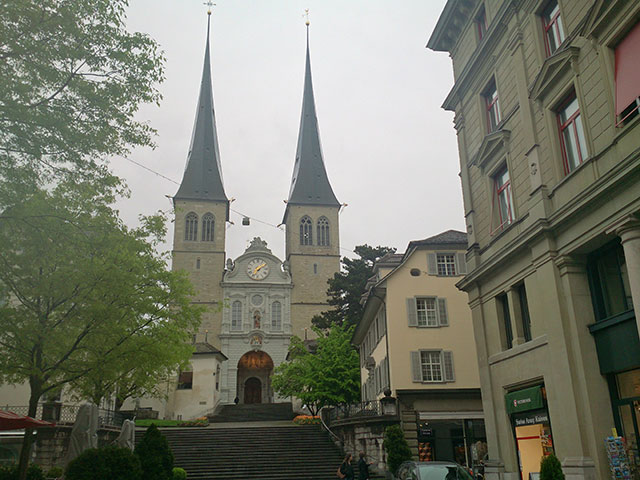 Church of St. Leodegar; Lucerne; Switzerland; architecture; church; uasatish;