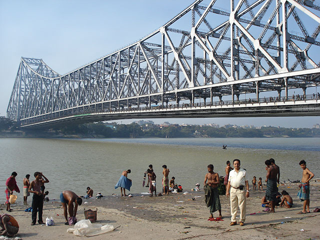Howrah Bridge; Kolkata; River Hooghly; outdoor; water; bridge; uasatish;