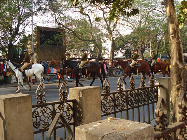 Esplanade; mounted police; Kolkata; Calcutta; outdoor; horses; uasatish; India;