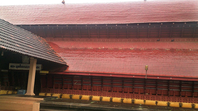 Sree Ramaswamy Temple; Thiruvangad Temple: Thalassery; Kerala; India; architecture; outdoor; uasatish; building; Thiruvangad; copper clad roof;