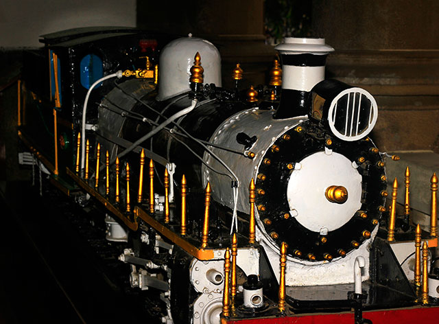 steam locomotive; model; Mumbai; India; Mumbai CST; heritage tour; uasatish;