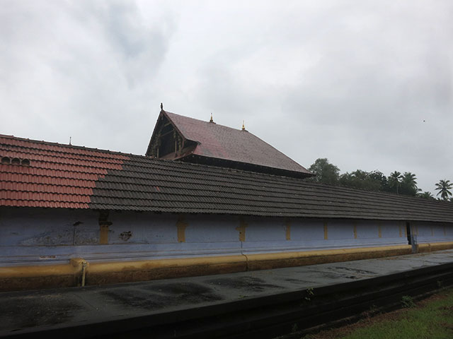 Sree Ramaswamy Temple; Thiruvangad Temple: Thalassery; Kerala; India; architecture; outdoor; uasatish; building; Thiruvangad; outer wall;