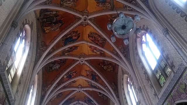 Cathedral of the Holy Name; Colaba; Mumbai; India; church; fresco; architecture; heritage building; uasatish;