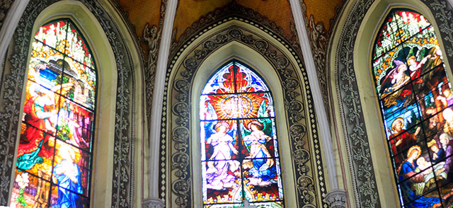Cathedral of the Holy Name; Colaba; Mumbai; India; church; architecture; heritage building; uasatish; stained glass;