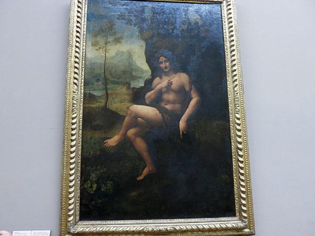 Bacchus; painting; Leonardo da Vinci; Louvre Museum; Paris; France; uasatish;