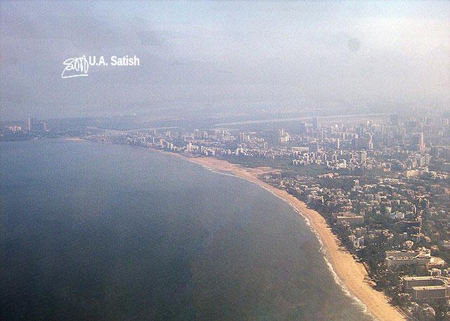 Mumbai Shoreline; Mumbai; India; beach; sea; sand; sky; uasatish;