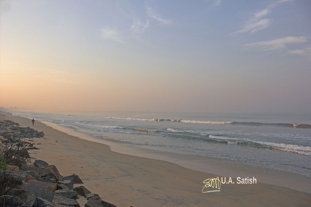 Neerkkadavu Beach; Kannur; Kerala; India; beach; sea; sand; sky; uasatish;