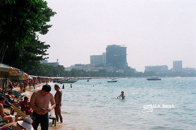 Pattaya Beach; Thailand; beach; sea; sand; sky; uasatish;