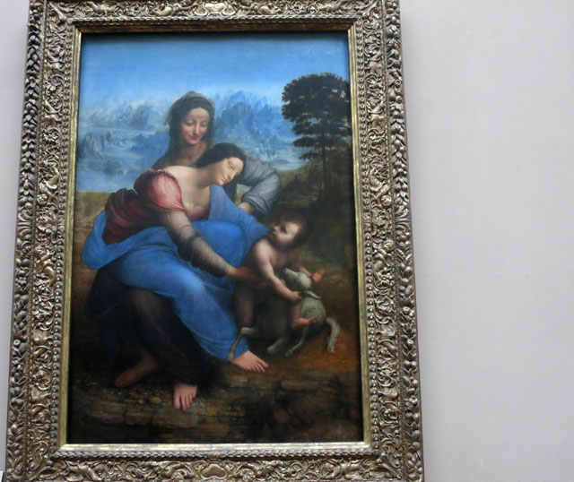 Painting; Leonardo da Vinci; Louvre Museum; Paris; France; Virgin and Child with St. Anne; uasatish;