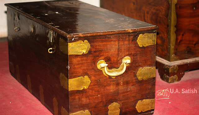 wooden chests; Arakkal Palace; Arakkal Museum; Kannur; Kerala; India; uasatish;