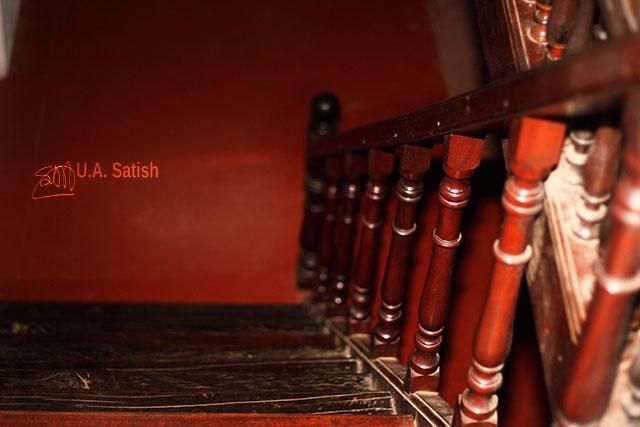 Arakkal Museum; Arakkal Palace; Kannur; Kerala; India; uasatish; wooden stairs;