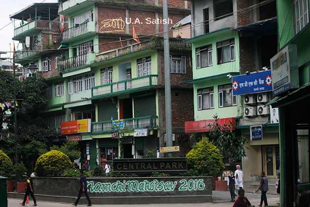 Gangtok; Sikkim; India; buildings; uasatish;