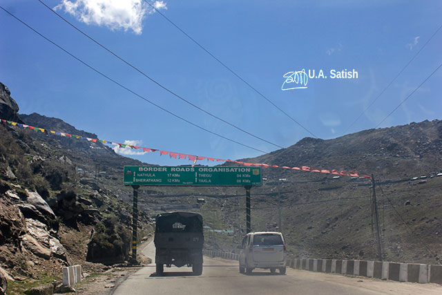 Sikkim; India; road; sign; sky; uasatish;