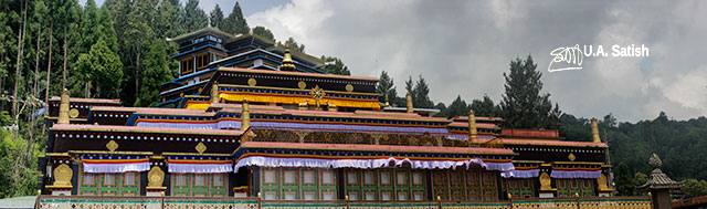 Rumte Monastery; Sikkim; Gangtok; India; architecture; uasatish;