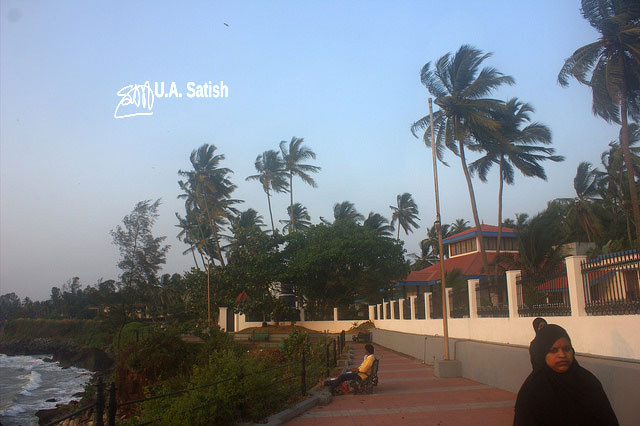 Kannur; Kerala; India; Sea View Park; sea; sky; trees; uasatish;