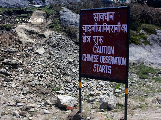 Gangtok-Nathula Road; Sikkim; India; sign; uasatish;