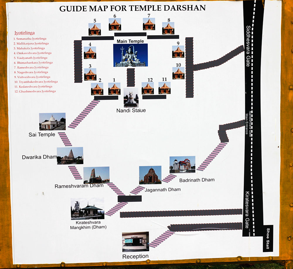 Temple Complex; Namchi; Sikkim; India; Solophok Hills; uasatish; guide map;