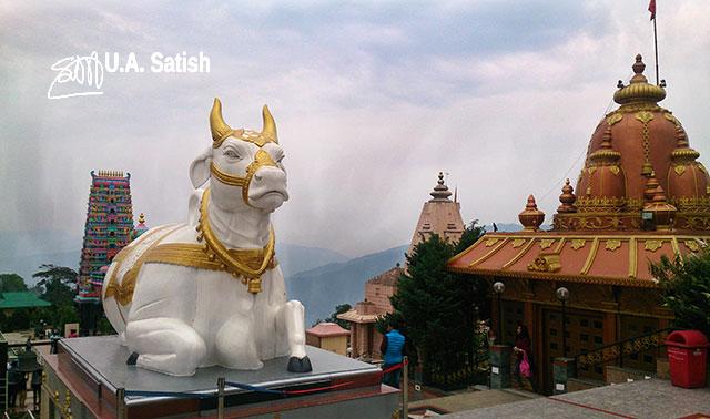 Nandi Bull; Namchi; Sikkim; India; temple complex; Solophok Hills; uasatish;