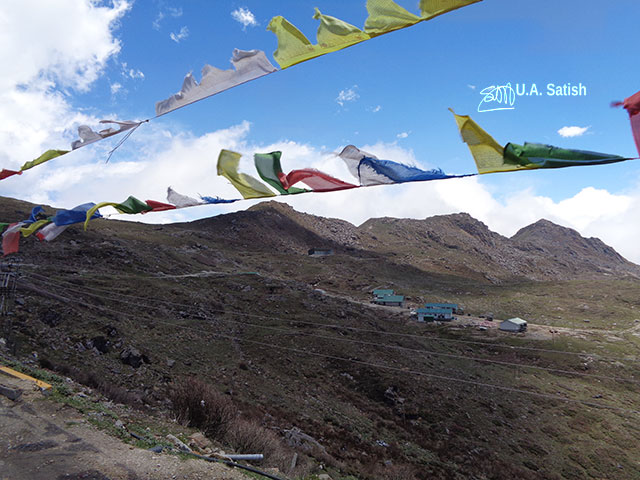 Sikkim; prayer flags; India; uasatish;