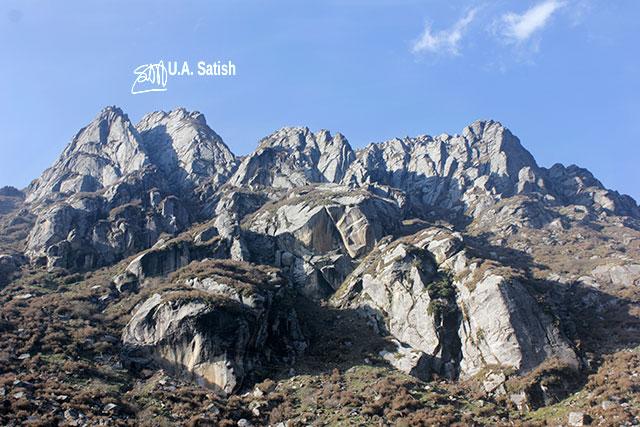 Sikkim; Changu Lake; glacial lake; rocks; India; uasatish;