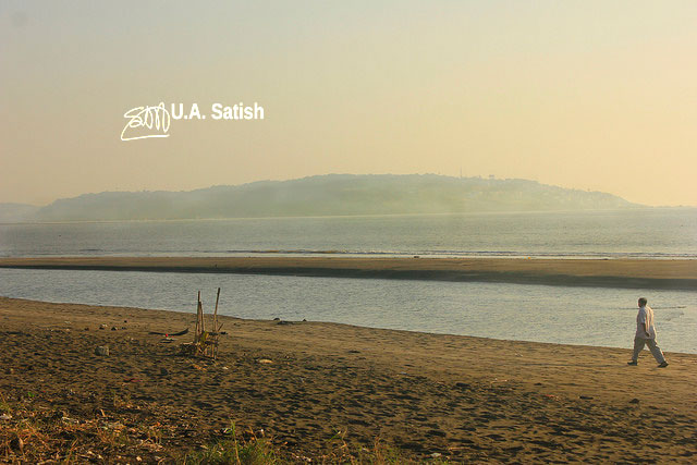 Suruchi Beach; Mumbai; Vasai; India; beach; water; hill; sky; uasatish;