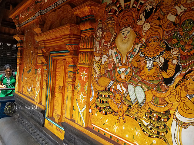 Thali Kshetram; Kozhikode; Kerala; India; architecture; temple; uasatish; wall painting; mural;