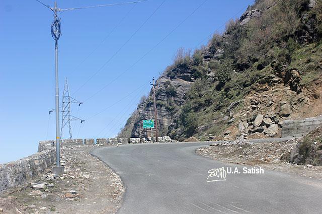 Sikkim; India; road; sky; rocks; uasatish;
