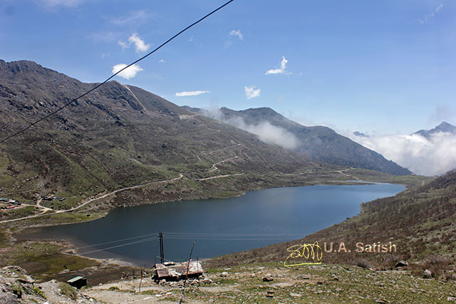 Sikkim; India; Kupup; lake; Kupup Lake; Elephant Lake; sky; mountain; clouds; uasatish;