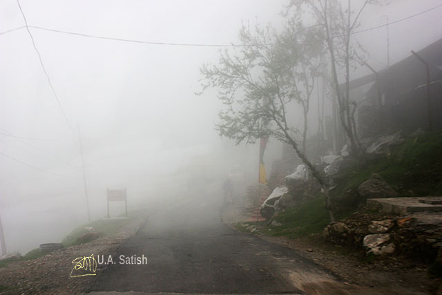 Sikkim; India; road; fog; uasatish;