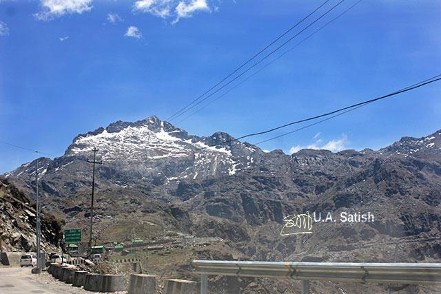 Sikkim; India; snow; mountains; sky; clouds; uasatish;