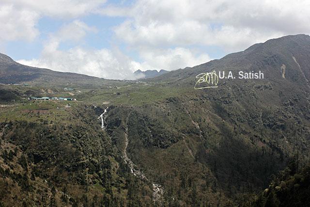 Sikkim; India; waterfall; mountain; clouds; sky; uasatish;