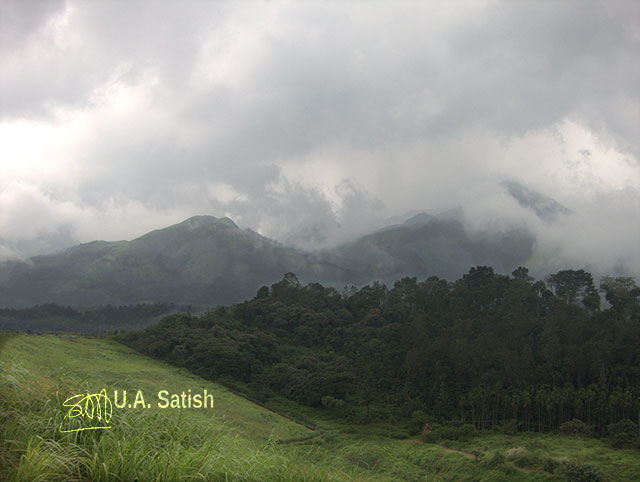 Wayanad; Kerala; India; mountains; clouds; trees; uasarish;