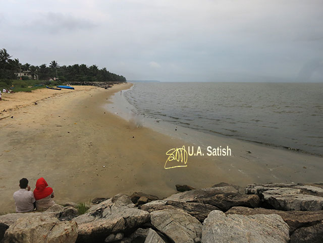 Kappad Beach; Kozhikode; Kerala; beach; sea; sand; trees; uasatish; sky;