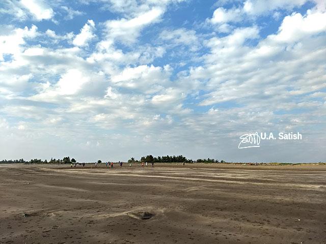 Rangaon Beach; beach; Vasai; India; sky; clouds; sand; uasatish;