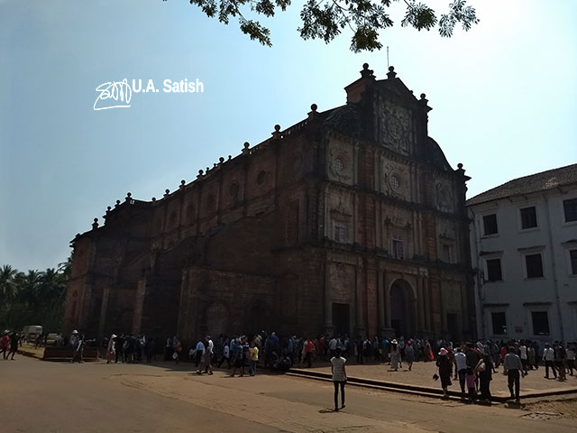 Goa; church' India; Basilica of Bom Jesus; UNESCO Heritage Building; Old Goa; Velha Goa; uasatish;