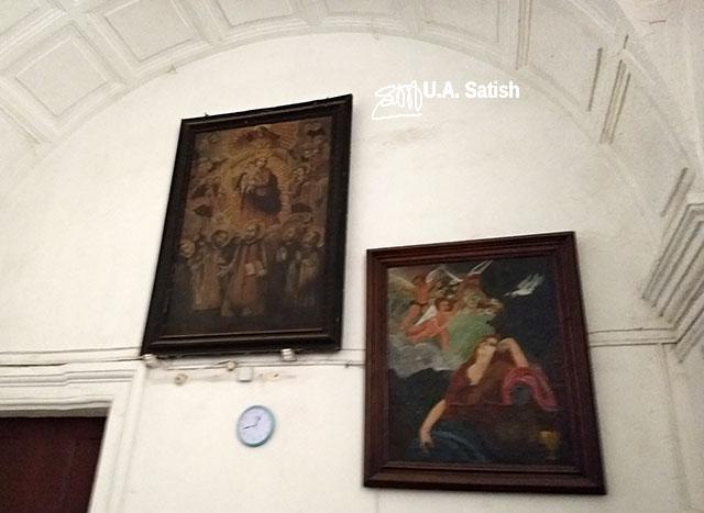 Basilica of Bom Jesus; Goa; church; Old Goa; Velha Goa; India; paintings; wall; uasatish;