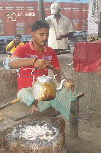 Tea Seller; Varanasi; India;