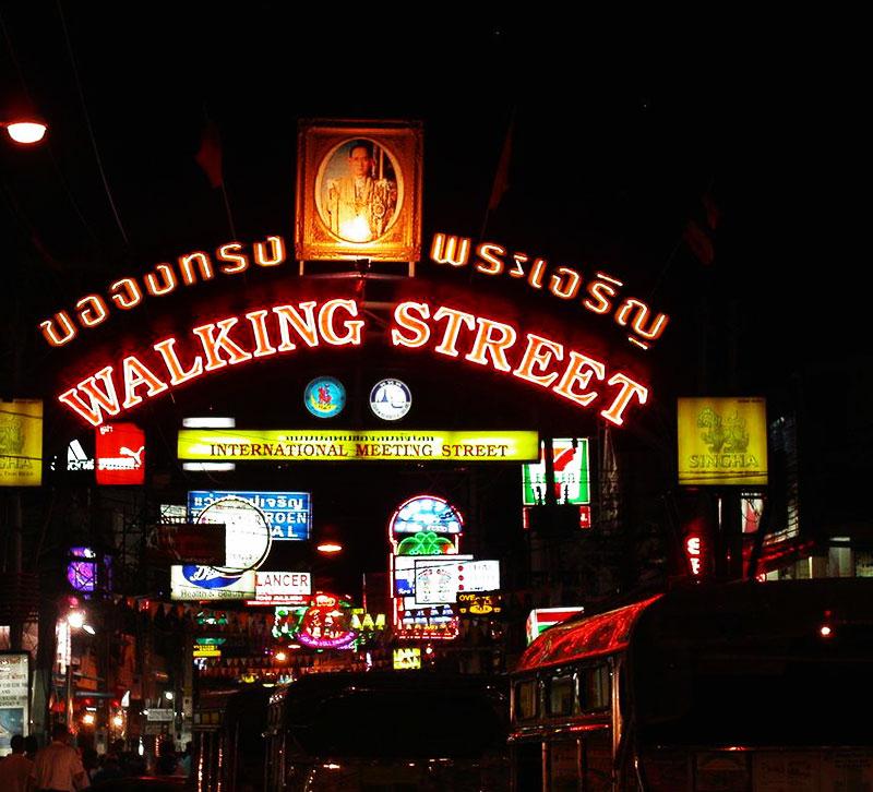 Walking Street Pattaya; Pattaya; Thailand; uasatish;