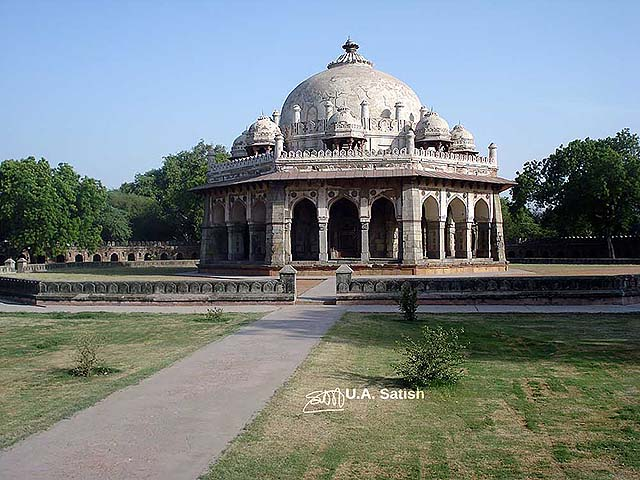 uasatish, India, Isa Khan's Tomb, Delhi, landmark,