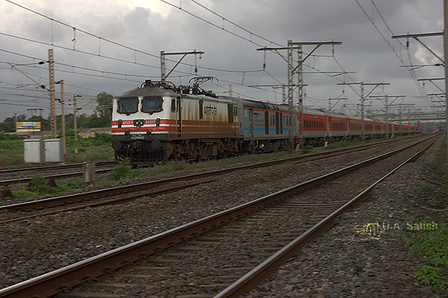 uasatish, India, Electric locomotive, WAP-5, train, Vasai,