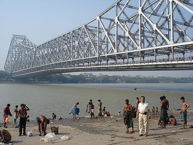 uasatish, Kolkata, Howrah Bridge, India,