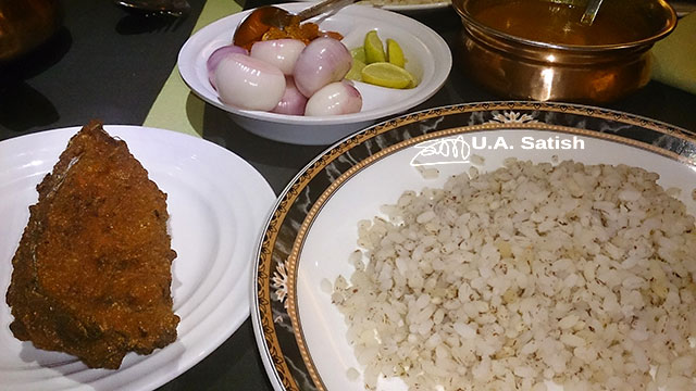 Fish fry, rice, Mumbai, India, Fountain Inn, uasatish, Kerala Food;